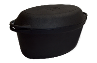 Утятница чугунная 3,5л л с чугунной крышкой. Посуда чугунная от Ситон 280х180х125мм, купить в Киеве