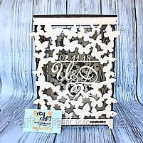 """Свадебная коробка для денег """"Бабочки"""", фото 2"""