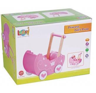 Красочная деревянная коляска для кукол, фото 2