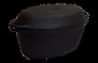 Утятница чугунная 9л л с чугунной крышкой. Посуда чугунная от ТМ Ситон 400х260х148мм, купить в Киеве