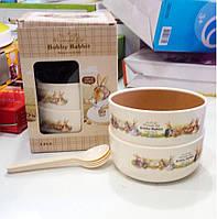 Набор детских тарелок Bobby Rabbit Wonderful Life!Скидка