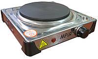 Электрическая плита настольная МРИЯ НЭП-1КБ (нержавейка, 1 конфорка)