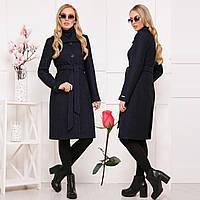 Красивое демисезонное пальто из ткани букле СК 319 -  Черное, фото 1