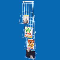 Настенный металлический стенд с полками для товаров в коробке,книг и дисков, фото 1