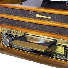 Деревянный Грамофон Проигрыватель Roadstar HIF-1893 TUMK Радио CD USB Mp3  + Пульт, фото 2