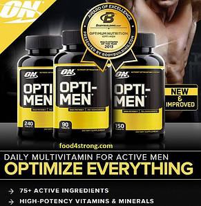 Лучшие витамины ON Opti - Men 150 т, фото 2