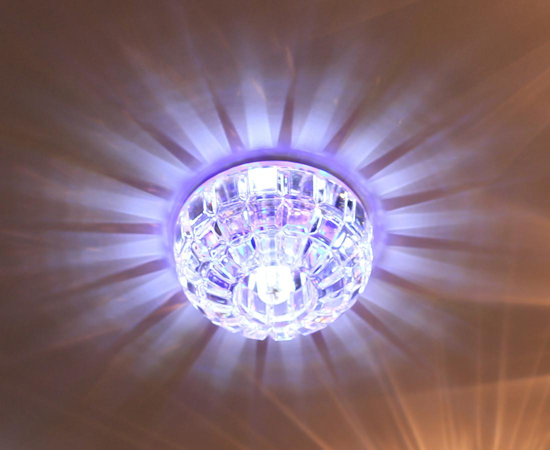 Декоративний світильник точковий Feron JD87 G9 з RGB LED підсвічуванням
