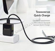 Кабель Micro USB Ugreen US125 для зарядки и передачи данных (Черный, 1.5м), фото 3