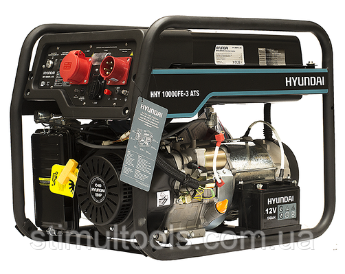 Генератор 3-х фазный с автоматикой Hyundai HHY 10000FE-3 ATS. Бесплатная доставка по Украине!