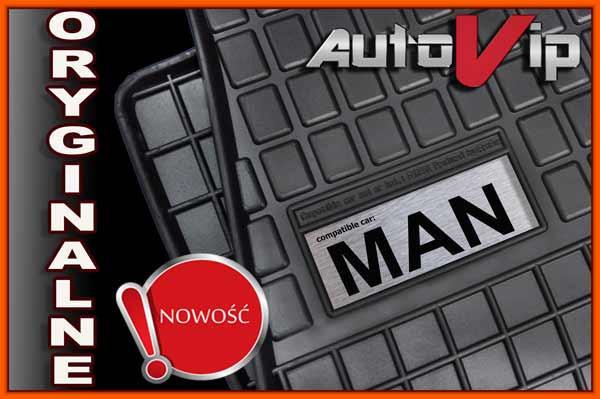 Резиновые коврики MAN 8-153 L2000 94-  с логотипом
