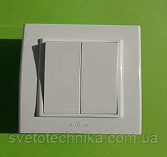 Выключатель двуклавишный проходной OVIVO Mina скрытой установки (белый)