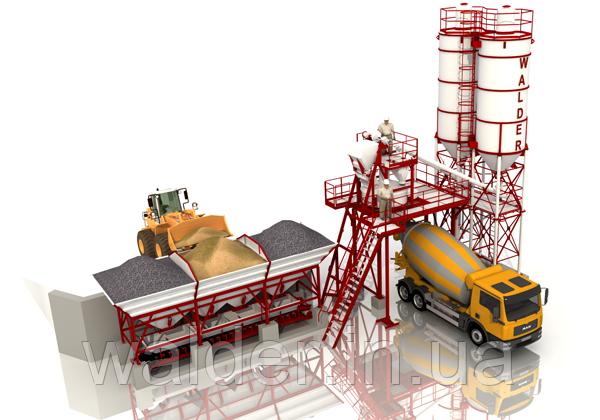 Бетоносмесительная установка производительностью 25 м.куб./ч (БСУ-25)