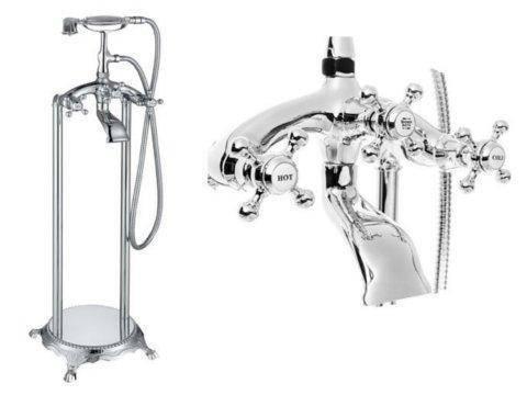 Смеситель для ванны напольный хром VIP, фото 2