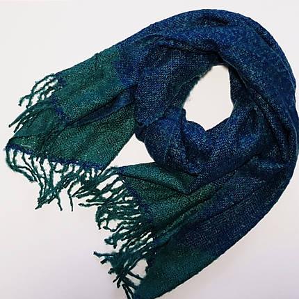 Палантин No brand КНИТИДЖ сине-зеленый, фото 2