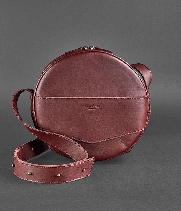 b76eb3642672 Сумочка круглая, кроссбоди, рюкзак натуральная кожа женская марсала (ручная  работа) - Интернет