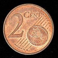 Монета Франции 2 евро цента 2011 г.