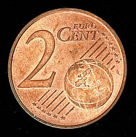 Монета Австрии 2 евро цента 2008 г.