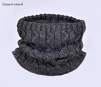 Зимний шарф хомут утепленный флисом, фото 1