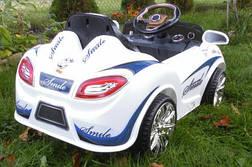 Детский кабриолет белого цвета, фото 2