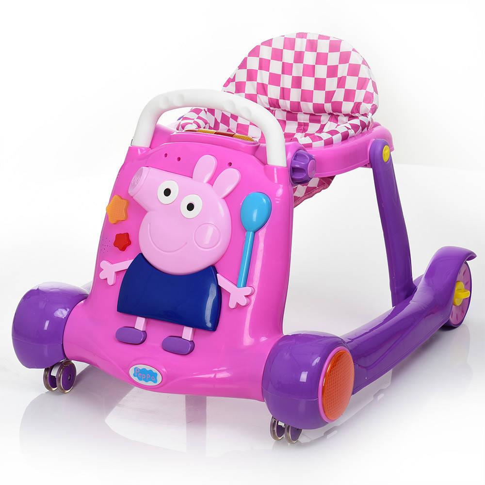 Ходунки Bambi BQ308-8 Свинка Пеппа розовые **