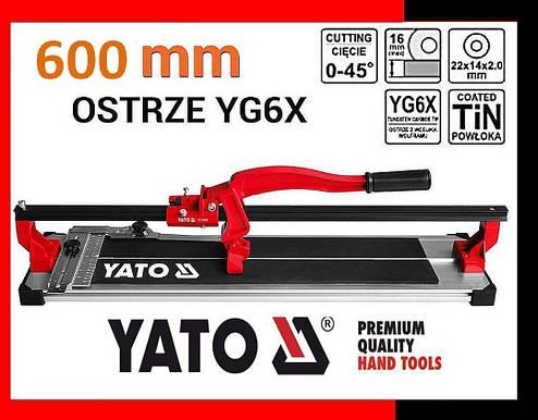 Плиткорез электрический YATO 600 мм, фото 2
