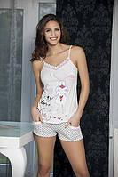 Женская пижама  Angel Story 4130, костюм для дома майка и шорты