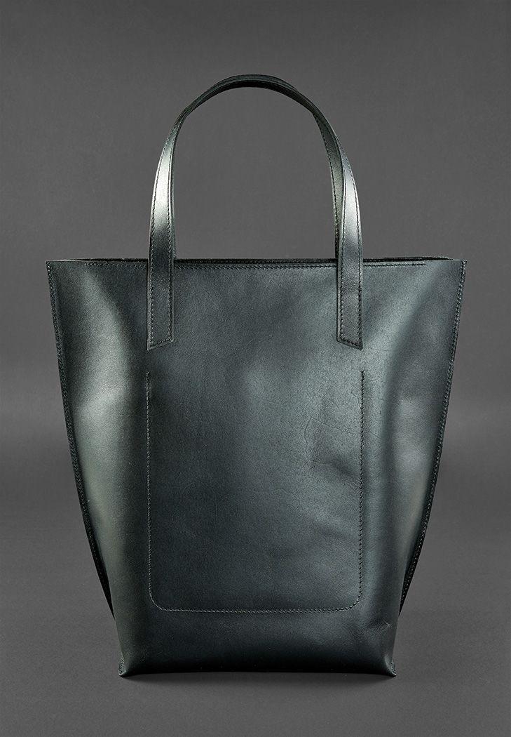 f09e10d439c7 Сумка шоппер женская натуральная кожа черная (ручная работа), ...