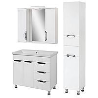 Комплект мебели для ванной комнаты Альвеус Т-80-31К-З-80-04-П-35-03 с зеркалом и пеналом ПИК