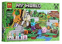"""Конструктор Bela Minecraft 10468 """"Железный голем"""" (аналог LEGO 21123), 220 деталей"""