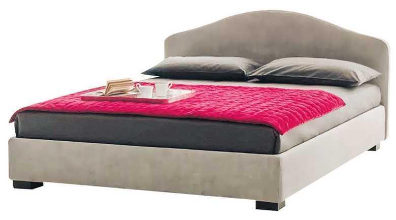 Ліжко з м'якою спинкою з підйомним механізмом Тоскано (160 х 200) КІМ