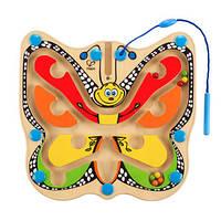 Деревянная игрушка Доска с магнитами - БабочкаHape