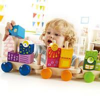 Деревянная игрушка Паровозик с кубиками для фантазийHape