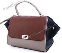 dfdf62578597 Женская сумка WeLassie 516101 brown женские деловые сумки, каркасная сумка