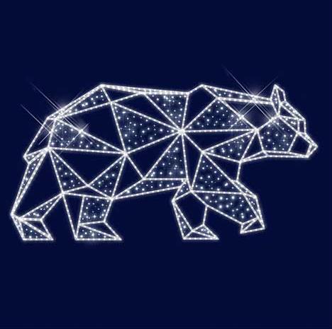 """3D светодиодная конструкция медведь """"Буран"""" 1,5*3,0*0,5"""