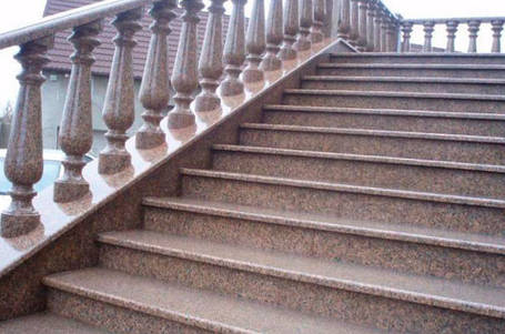 Изготовление лестниц из гранита, фото 2