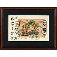 """35085 Набор для вышивания крестом DIMENSIONS Bonsai and Buddha """"Бонсай и Будда"""", Код товара: 1062172"""