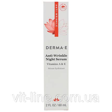 Derma E.Ночная сыворотка против морщин с витамином А , фото 2