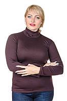 Гольф водолазка теплая женская размер плюс Флис шоколад (42-60)