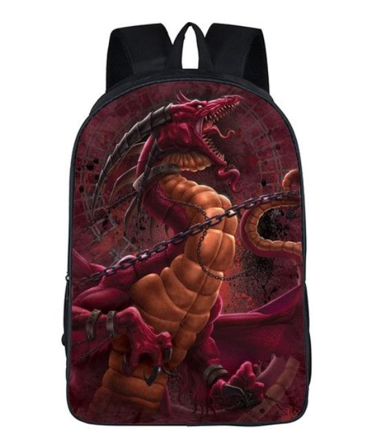 Рюкзак школьный городской Красный дракон