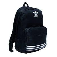 Стильный рюкзак адидас, adidas. Черный с белым логотипом. Нейлон. Отличное качество