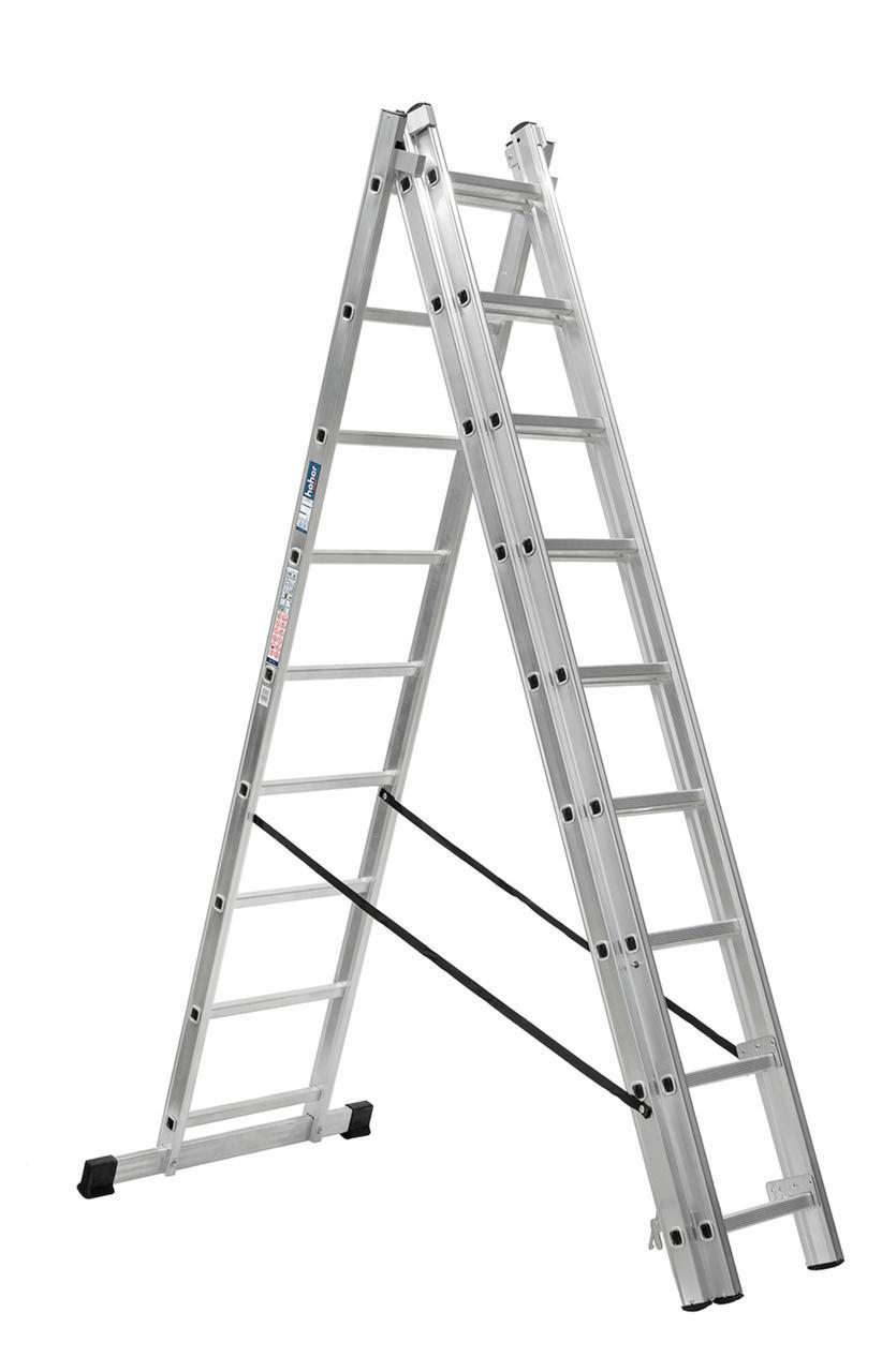 Лестница алюминий 3х13 HOHER 920 см