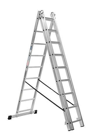 Лестница алюминий 3х13 HOHER 920 см, фото 2