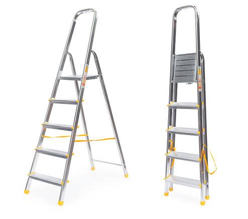 Лестница алюминий 5 ступений ALVE 282 см, фото 2