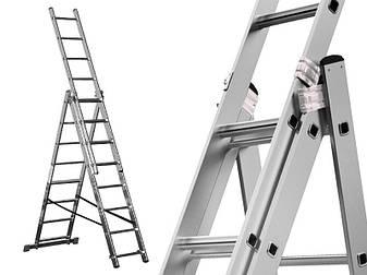 Лестница алюминий 3х11 HIGHER 636 см, фото 2
