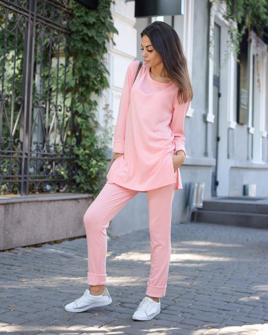 d6c417ef8be6 Модный женский костюм , розового цвета - Интернет-магазин одежды и обуви от  производителя