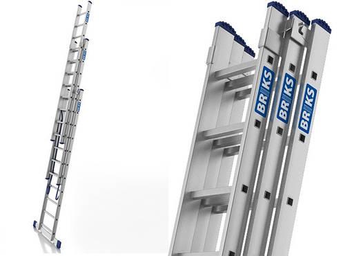 Лестница алюминий 3х9 BRIKS 540 см, фото 2