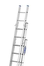 Лестница алюминий 3х12 BRIKS 840 см, фото 2