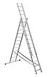 Лестница алюминий 3х12 BRIKS 840 см, фото 5