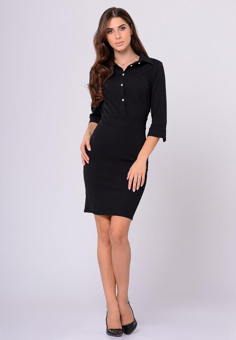 Платье LiLove 384-1 46 черный