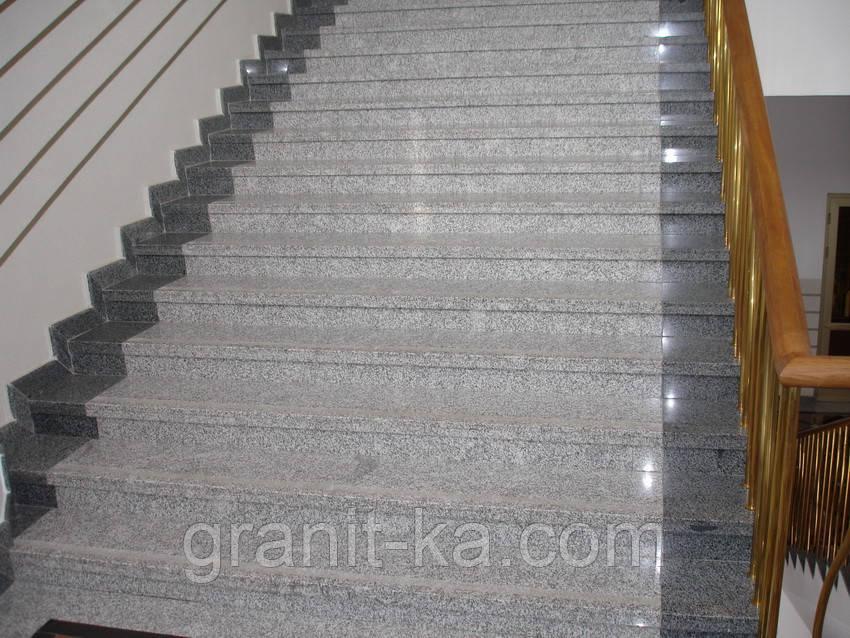Дизайн лестниц из гранита